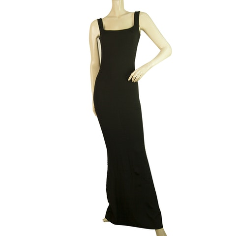 Black Bodycon Long Maxi Sleeveless dress