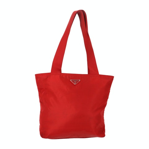 Red Nylon Tote