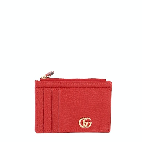 Red GG Marmont Card Case
