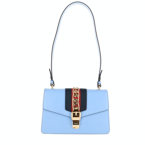 Blue Leather Sylvie Small Bag