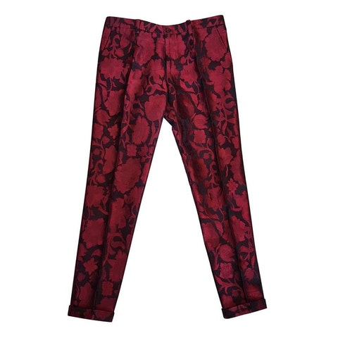 Silk Multicolor Trousers