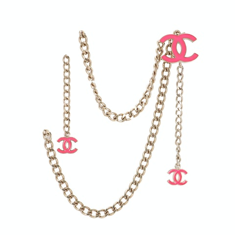 Chanel Gold-Toned Logo Chain Belt