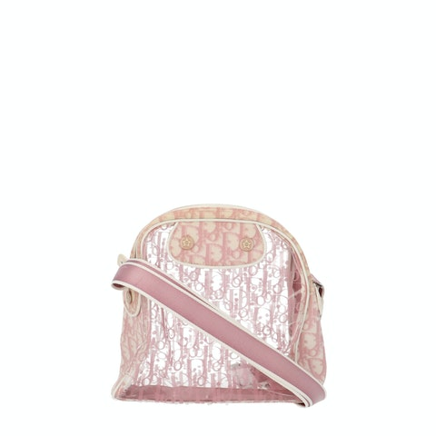 Pink Oblique Vinyl Crossbody