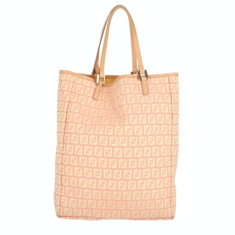 Pink Zucca Canvas Tote