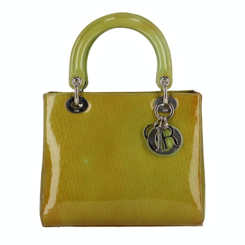 Green Patent Leather Lady Dior