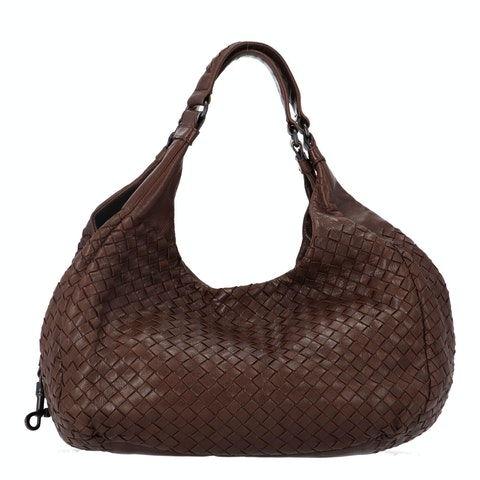 Bottega Veneta Brown Medium Intrecciato Shoulder Bag