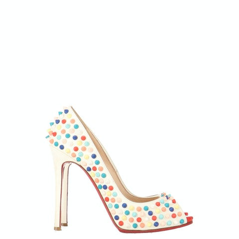 Multicolor Leather Flo Spikes Pumps