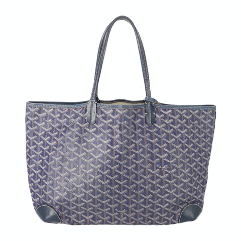 Blue Goyardine Canvas Saint Louis Tote PM