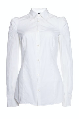Dsquared2, White shirt with padded shoulders.