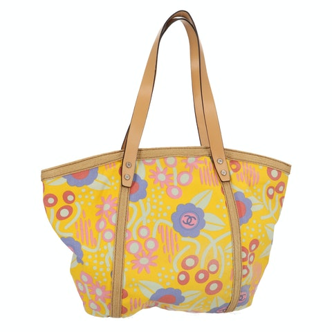 Yellow Floral Canvas Shopper