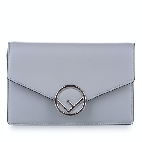 F is Fendi Leather Wallet on Chain