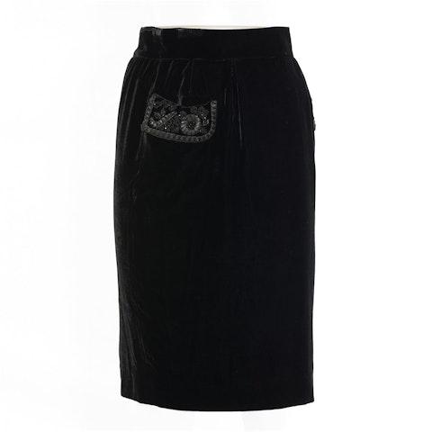 Black Fabric Skirt