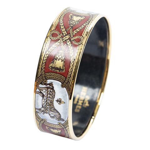 Enamel Bangle MM in Red/Gold/White/Grey Stainless Steel without Nickel