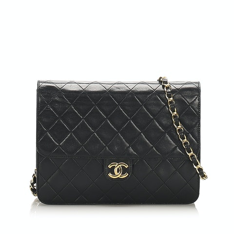 CC Timeless Lambskin Leather Flap Bag