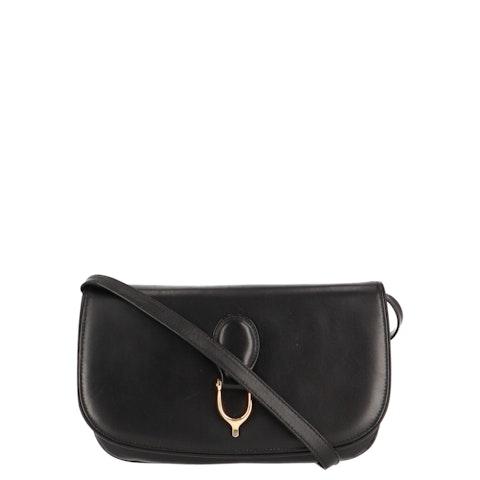 Black Calfskin Leather Crossbody