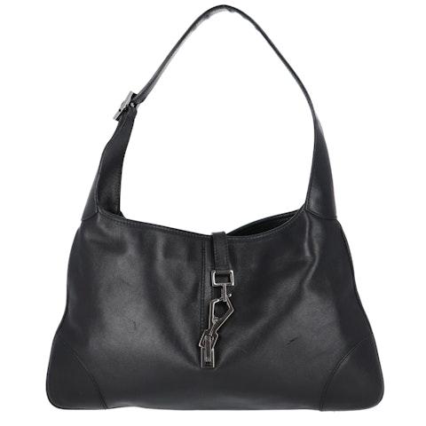 Gucci Black Calfskin Leather Shoulder Bag