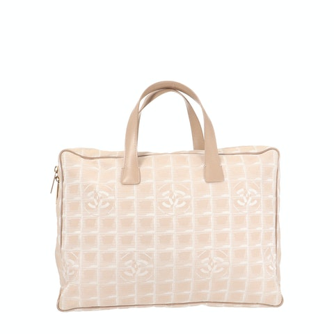 Beige New Travel Line Tote