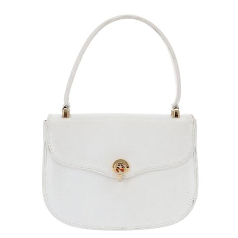 White Calfskin Leather Handbag