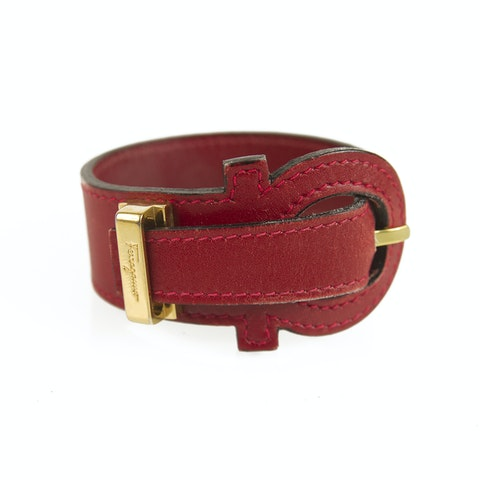Salvatore Ferragamo Red Gancio Bracelet