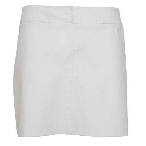 White and Black Cotton Skirt