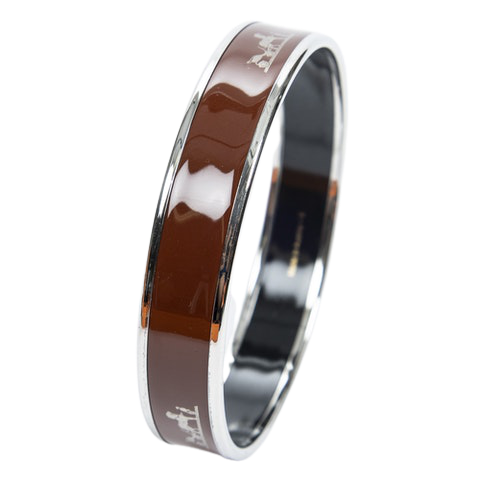 Enamel Bangle PM in Brown Stainless Steel without Nickle