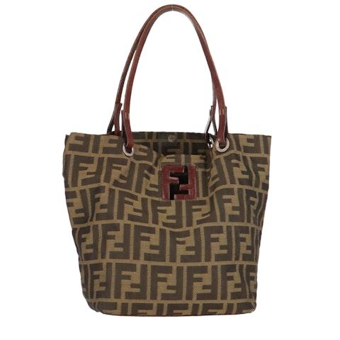 Brown Zucca Canvas Handbag