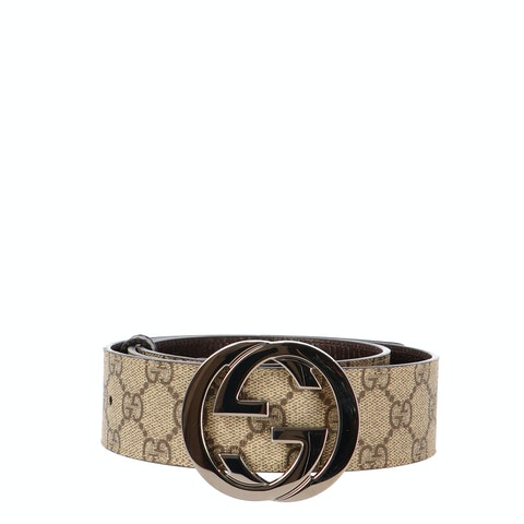 Brown Gucci Diamante Canvas Belt
