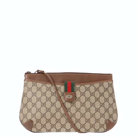 Brown Diamante Coated Canvas Accessory Collection Crossbody