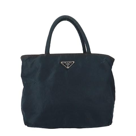 Blue Nylon Handbag
