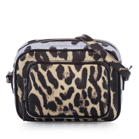 Animal Print Leather Crossbody Bag
