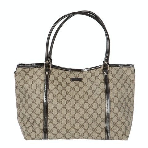 Gucci Brown Diamante Coated Canvas Shopper