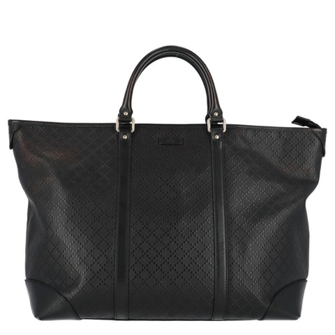 Gucci Black Diamante Coated Canvas Shopper