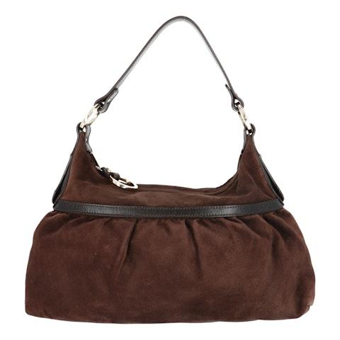Brown Fabric Shoulder Bag