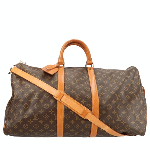 Monogram Canvas Keepall Bandouliere 55