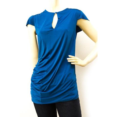 Alexander McQueen Cobalt Blue Asymmetric Fabulous Viscose top